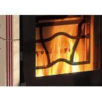Kombinirana kaminska peč Cleo Combi Vogue na pelete in drva  6- 6,5 kW