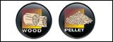Kombinirane kaminske peči drva / pelete