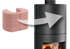 Kaminska peč na drva Inzell easy 3 - 6, akumulacijska obloga