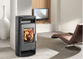 Kaminska peč na drva EIFEL-II 230.17-C, Ceramic hematite, 4 - 8 kW