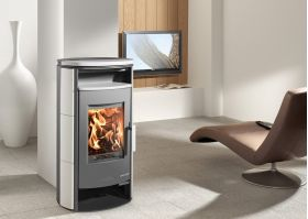 Kaminska peč na drva EIFEL-II 230.17-C, Ceramic White, 4 - 8 kW