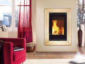 Kaminski vložek na drva Inserto 50 Verticale Crystal Ventilato, 8 kW