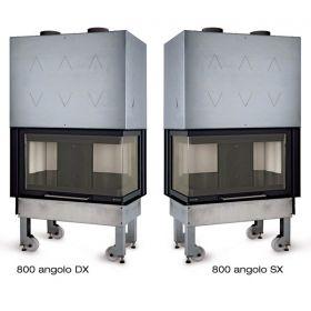 Kaminski vložek na drva Monoblocco 800 Angolo DX- SX Kotni 10 kW